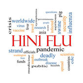 H1N1 Flu Word Cloud Concept — Stock Photo