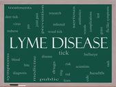 Lyme Disease Word Cloud Concept on a Blackboard — Stock Photo