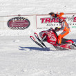 Stock Photo: Polaris Red and white Snowmobile Racing