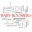 Baby Boomers Word Cloud Concept — Stock Photo