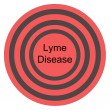 Lyme Disease Red Bullseye — Stock Photo