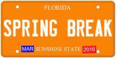 Spring Break Florida License Plate — Stock Photo