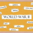 World War II Corkboard Word Concept — Stock Photo