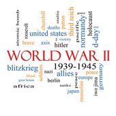 World War II Word Cloud Concept — Stock Photo