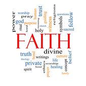 Faith Word Cloud Concept — Stock Photo
