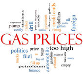 Gas Prices Word Cloud Concept — Stock Photo