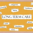 Stock Photo: Long Term Care Corkboard Word Concept
