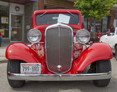 1933 Red Chevy Coupe Front View — Stock Photo