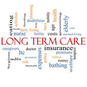 Long Term Care Word Cloud Concept — Stock Photo