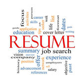 Resume Word Cloud Concept — Stock Photo