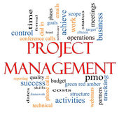 Project Management Word Cloud Concept — Стоковое фото