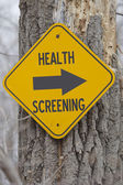 Health Screening this Way — Stock Photo