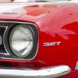 Постер, плакат: Red and White 1968 Chevy Camaro 327 Side Panel