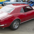 Постер, плакат: Red and White 1968 Chevy Camaro 327 Rear View