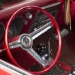 Постер, плакат: Red and White 1968 Chevy Camaro 327 Interior