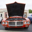 Постер, плакат: Red 1969 Pontiac Firebird Front view