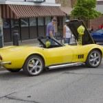 Постер, плакат: Yellow 1968 Chevy Corvette Roadster Side View