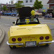 Yellow 1968 Chevy Corvette Roadster Rear View — Stock Photo #28253081
