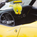Постер, плакат: Yellow 1968 Chevy Corvette Roadster Interior View