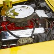 Постер, плакат: Yellow 1968 Chevy Corvette Roadster Engine