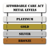 ACA Affordable Care Act Metal Levels — Stock Photo