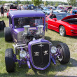 Stock Photo: 1932 Chevy Roadster Purple Front View
