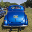 Stock Photo: 1940 Blue Ford Deluxe Car Rear View