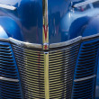Stock Photo: 1940 Blue Ford Deluxe Car Grill