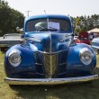Stock Photo: 1940 Blue Ford Deluxe Car Front View