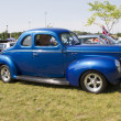 Stock Photo: 1940 Blue Ford Deluxe Car Side View