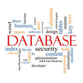 Database Word Cloud Concept — Stock Photo