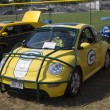 2002 Green Bay Packers VW Beetle Side View — Stock Photo