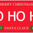Ho Ho Ho License Plate — Stock Photo