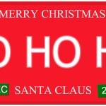 Ho Ho Ho License Plate — Stock Photo