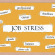 Stockfoto: Job Stress Corkboard Word Concept