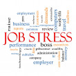 Stockfoto: Job Stress Word Cloud Concept