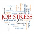 ストック写真: Job Stress Word Cloud Concept