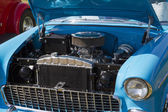 1955 Blue and White Chevy Bel Air Engine — Stock Photo