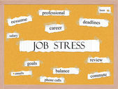 Job Stress Corkboard Word Concept — Photo