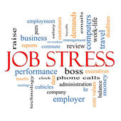Job Stress Word Cloud Concept — 图库照片