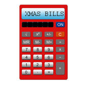 XMAS Bills Calculator — Stock Photo
