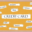 Credit Card Corkboard Word Concept — Stock Photo #37264455