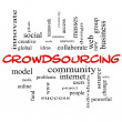 Crowdsourcing Word Cloud Concept in red caps — Stock Photo #37264561