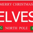 Elves North Pole License Plate — Stock Photo
