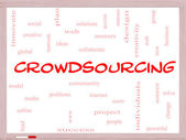 Crowdsourcing Word Cloud Concept on a Whiteboard — Stock Photo