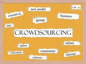 Crowdsourcing Corkboard Word Concept — Stock Photo