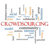 Crowdsourcing Word Cloud Concept — Stock Photo