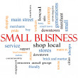 Small Business Word Cloud Concept — Stock Photo