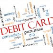 Stock Photo: Debit Card Word Cloud Concept Slanted