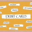 Stock Photo: Debit Card Corkboard Word Concept
